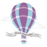 导航热空气气球的例证在天空的 图库摄影