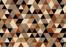 导航现代五颜六色的几何三角样式,颜色摘要 库存照片