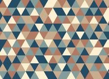 导航现代五颜六色的几何三角样式,颜色摘要 库存例证