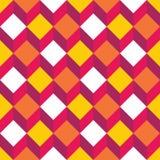 导航现代无缝的五颜六色的几何正方形样式,颜色摘要 免版税图库摄影