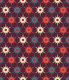 导航现代无缝的五颜六色的几何花卉样式,颜色抽象几何背景 免版税图库摄影