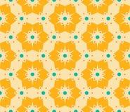 导航现代无缝的五颜六色的几何花卉样式,颜色抽象几何背景 免版税库存图片