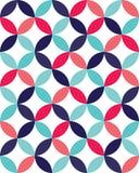 导航现代无缝的五颜六色的几何重叠的圈子样式,颜色摘要 库存图片