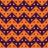 导航现代无缝的五颜六色的几何V形臂章线样式,颜色紫色桔子,摘要 库存照片