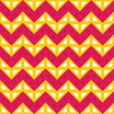 导航现代无缝的五颜六色的几何V形臂章线样式,颜色紫色黄色,摘要 库存照片