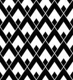 导航现代无缝的几何样式三角,黑白摘要 库存照片