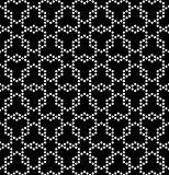 导航现代无缝的几何样式六角形,黑白摘要 免版税库存照片