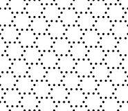 导航现代无缝的几何样式小点,黑白摘要 库存图片