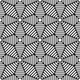 导航现代无缝的几何样式栅格,黑白摘要 库存图片
