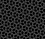 导航现代无缝的几何样式石头,黑白摘要 免版税库存照片