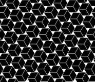 导航现代无缝的几何样式立方体,黑白摘要 免版税库存照片