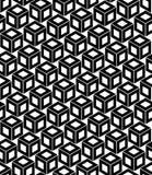 导航现代无缝的几何样式立方体,黑白摘要 库存照片