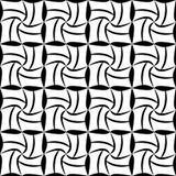 导航现代无缝的几何样式,黑白摘要 免版税库存图片