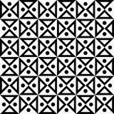导航现代无缝的几何样式滴漏,黑白摘要 库存图片