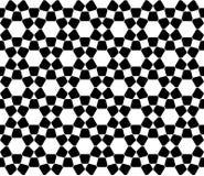 导航现代无缝的神圣的几何样式回教,黑白摘要 库存图片