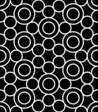 导航现代无缝的神圣的几何样式圈子,黑白摘要 库存例证