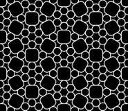 导航现代无缝的神圣的几何样式圈子,黑白摘要 免版税库存照片