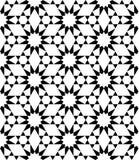 导航现代无缝的神圣的几何样式星,黑白摘要 免版税库存图片