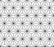 导航现代无缝的神圣的几何样式,黑白摘要 免版税库存图片