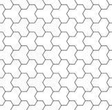 导航现代无缝的神圣的几何样式,黑白摘要 库存照片