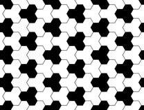 导航现代无缝的神圣的几何样式,黑白摘要 免版税图库摄影