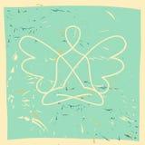 导航瑜伽,凝思,灵性的标志 库存图片