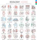 导航生态种族分界线apps和网络设计的概述象 生态技术元素象 图库摄影