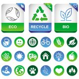 导航生态infographics要素 免版税库存图片