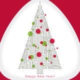 导航用wir创造的常青圣诞树的例证 向量例证