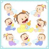 导航男婴和女婴的例证 向量例证