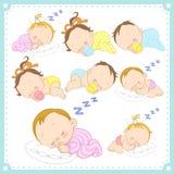导航男婴和女婴的例证 皇族释放例证