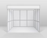 导航白色空白的室内商业陈列摊标准立场有背景 库存例证