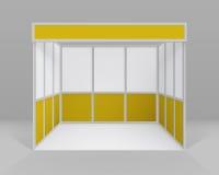 导航白色黄色空白的室内商业介绍的陈列摊标准立场被隔绝的 皇族释放例证