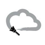 导航简单的云彩画与画笔,气象学标志 皇族释放例证
