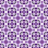 导航紫罗兰色,紫色和黑无缝的装饰品 向量例证
