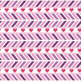 导航紫色和桃红色V形臂章无缝的样式 向量例证