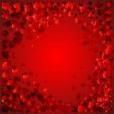 导航红色金刚石明信片在血淋淋的背景的充满爱 库存例证