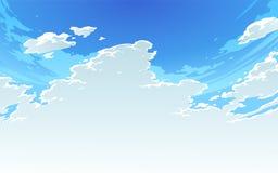 导航美丽的明亮的多云天空的例证在芳香树脂样式的 2 免版税库存图片