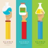 导航胳膊和手教育集合科学化学制品 皇族释放例证