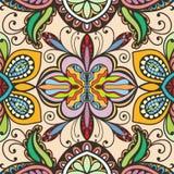 导航花卉几何无缝的样式,种族装饰品 向量例证