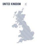 导航英国的抽象波浪地图隔绝了在白色背景 皇族释放例证