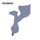导航莫桑比克的地图隔绝了在白色背景 免版税库存图片