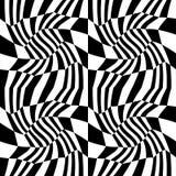 导航行家抽象几何样式、黑白无缝的几何背景、微妙的枕头和坏板料印刷品 免版税库存图片