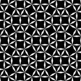 导航行家抽象几何样式栅格、黑白无缝的几何背景、微妙的枕头和坏板料印刷品 图库摄影