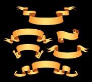 导航装饰设计元素-丝带,框架,贴纸,标签的汇集 皇族释放例证