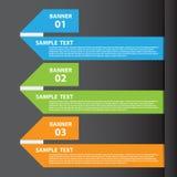 导航设计和创造性的工作的例证横幅 免版税库存图片