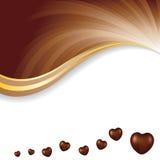 导航软的棕色黑暗的巧克力摘要背景的例证 免版税库存照片