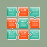 导航进展背景/产品选择或者版本 免版税库存图片
