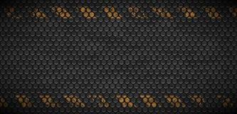 导航金属生锈的栅格都市难看的东西背景的样式 老黑铁格栅工业纹理 网页工业横幅 向量例证
