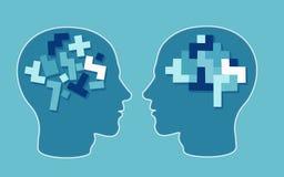导航难题头脑子神经学和心理学的概念 库存例证